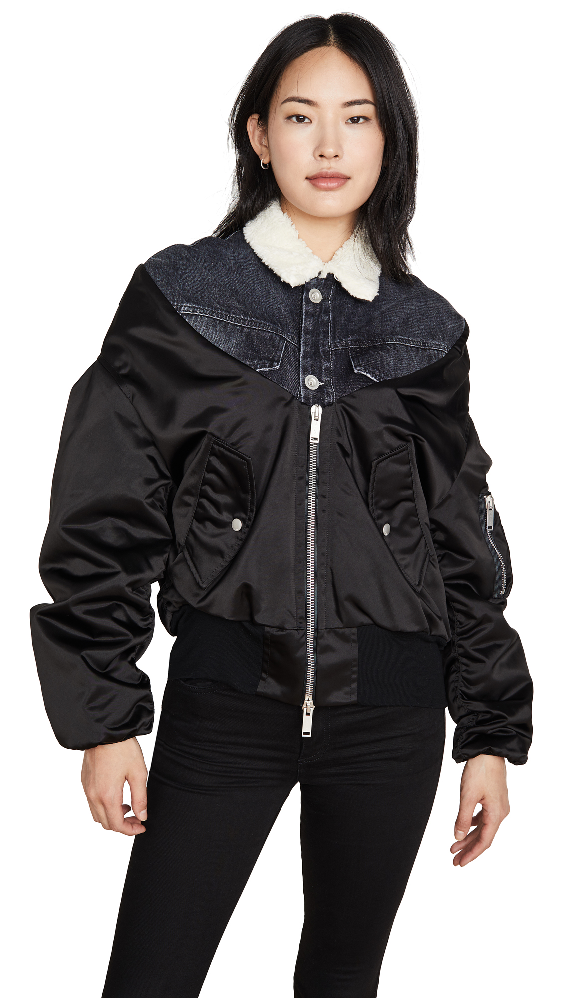 Buy Unravel Project online - photo of Unravel Project Reversible Hybrid Bomber Jacket