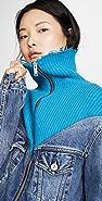 Unravel Project Hybrid Knit Denim Jacket