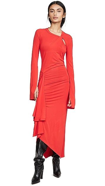 Unravel Project Twist Open Sleeve Dress