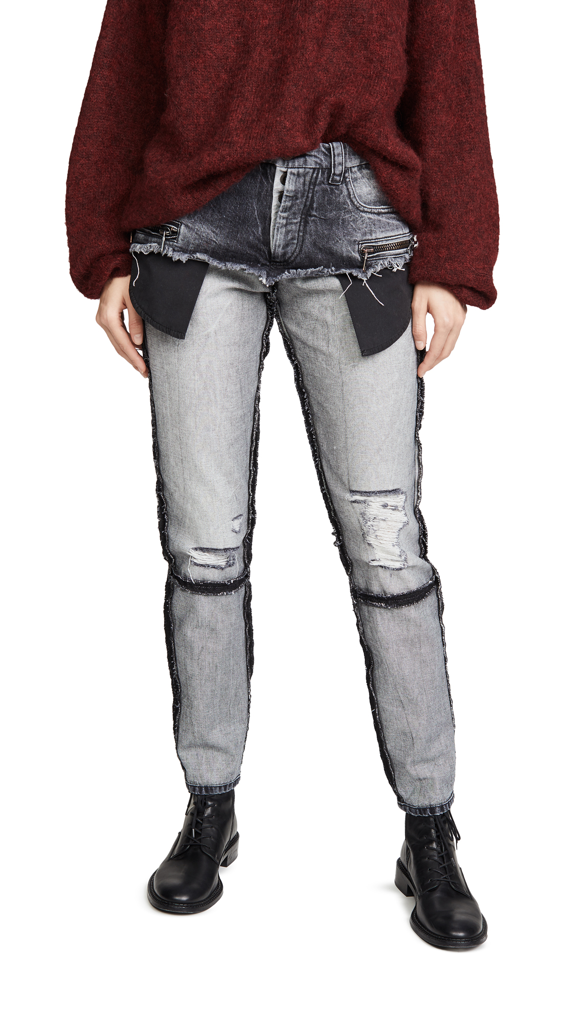 Buy Unravel Project online - photo of Unravel Project Moonwash Double Layer Jeans