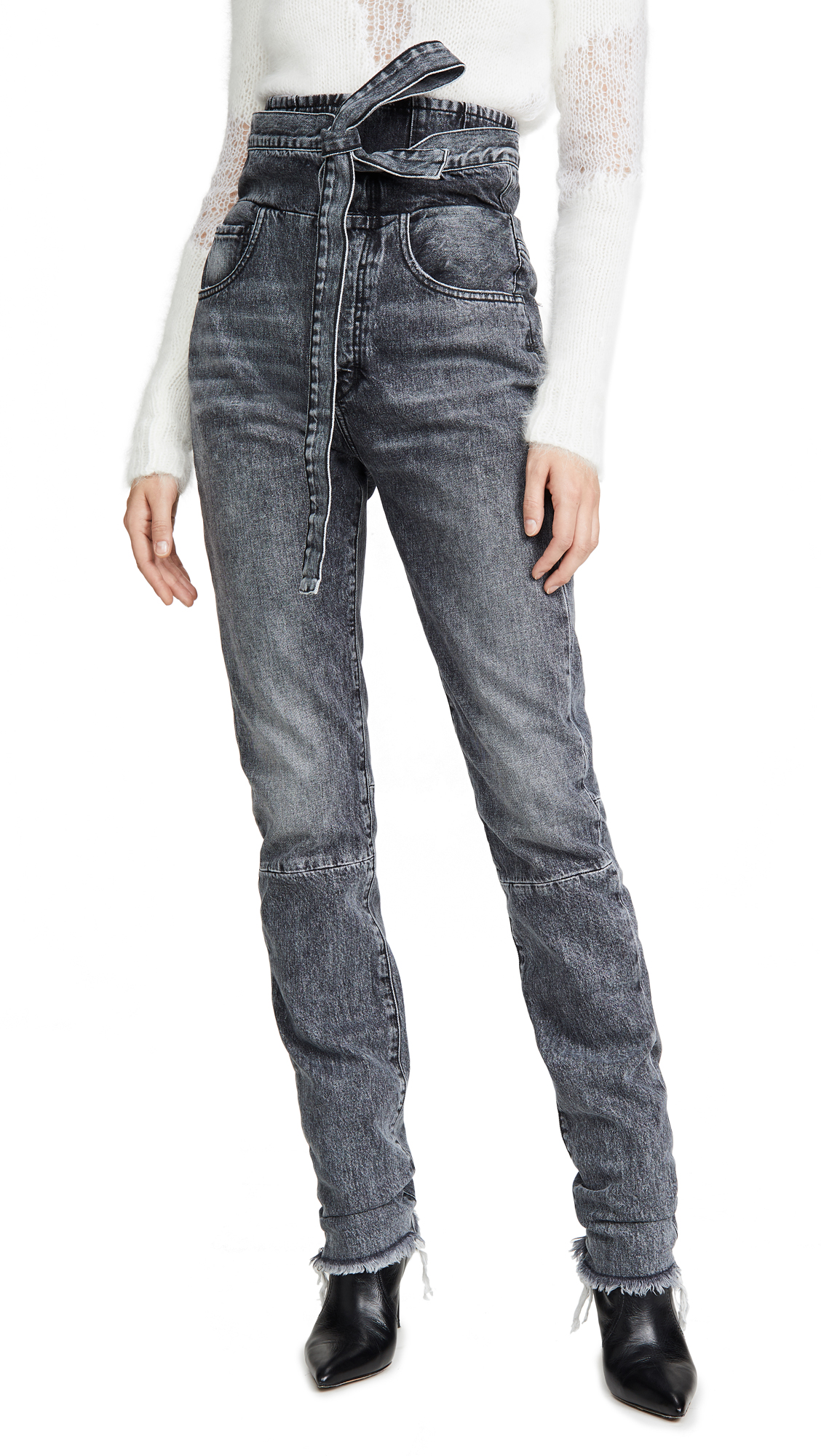 Buy Unravel Project online - photo of Unravel Project Stonewash Corset Sraight Leg Jeans