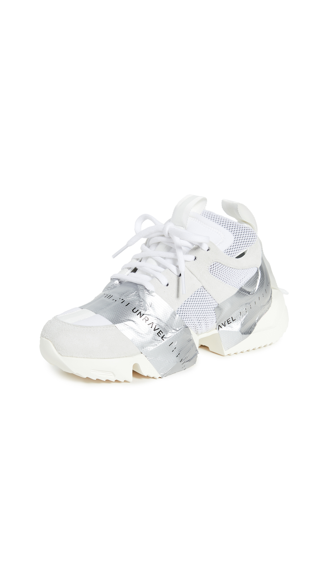 Buy Unravel Project online - photo of Unravel Project Tape Low Sneakers