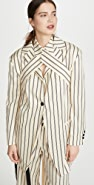Unravel Project Stripes Wrap Blazer
