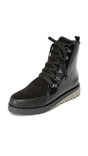 United Nude Hiker Combat Boots - Black