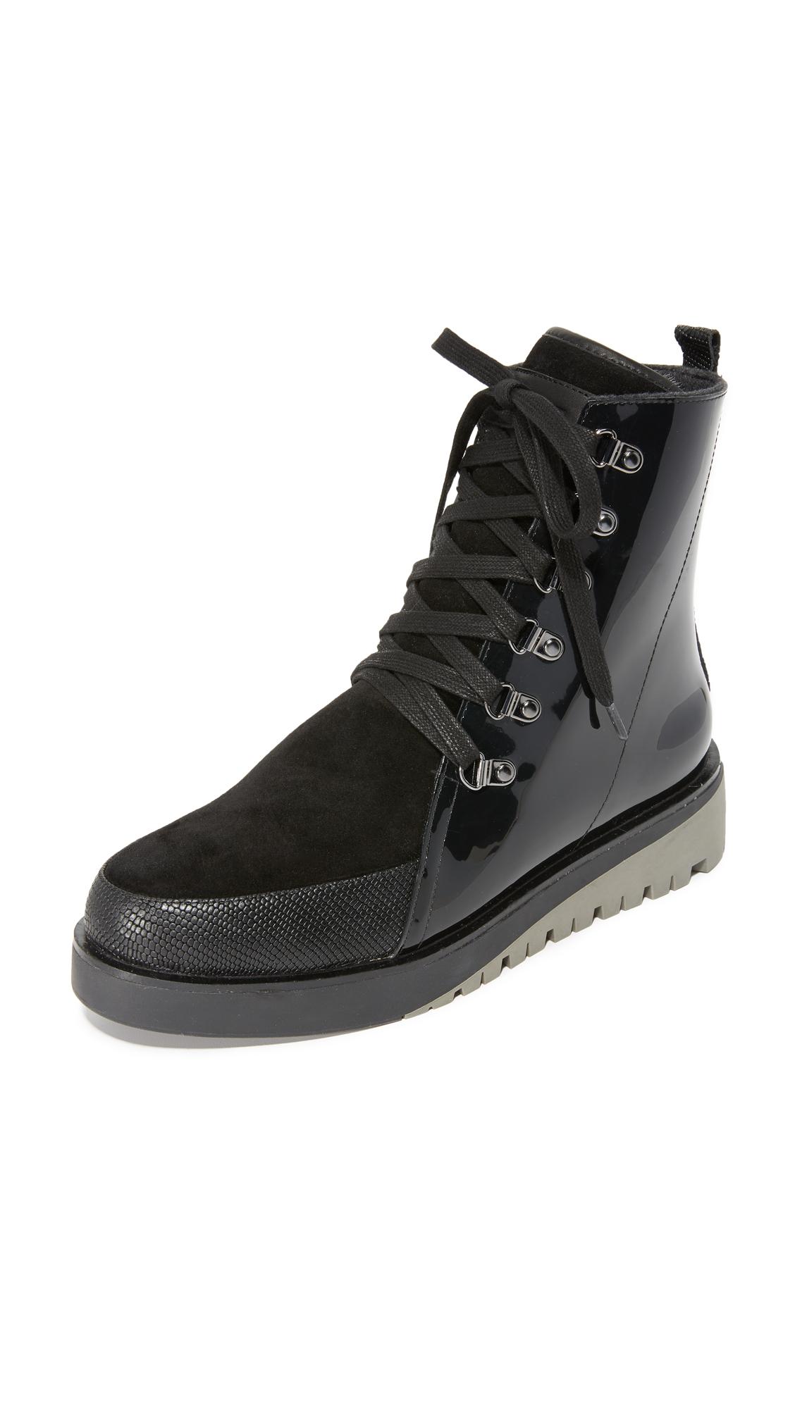 United Nude Hiker Combat Boots - Black