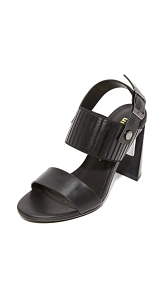 United Nude Zink Slingback High Sandals - Black