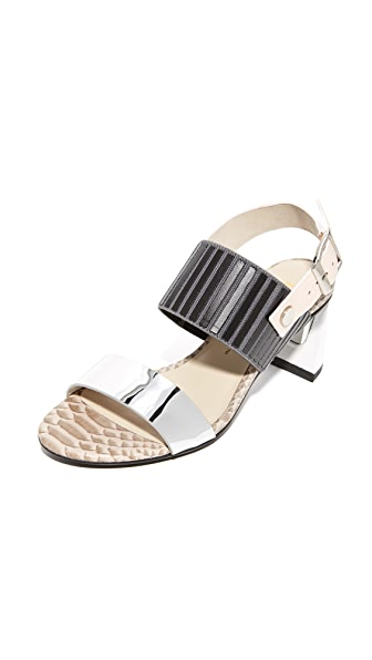 United Nude Zink Slingback Mid Sandals - Nude Mix