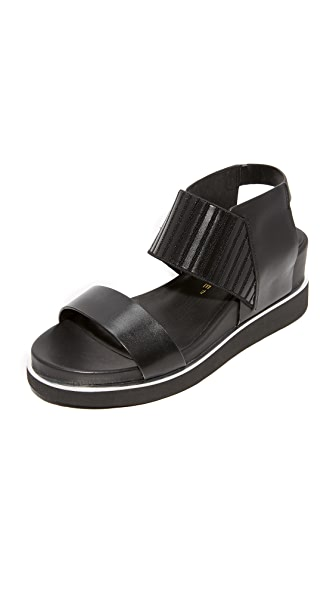United Nude Rico Wedge Sandals - Black