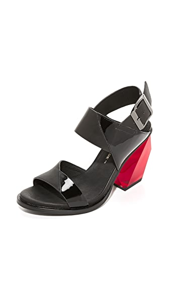 United Nude Leona Slingback High Sandals - Black