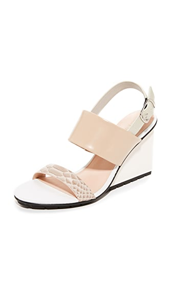 United Nude Solid Slingback Sandals - Nude Mix