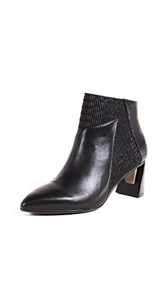 United Nude Zink Mid Ankle Booties In Black/Black