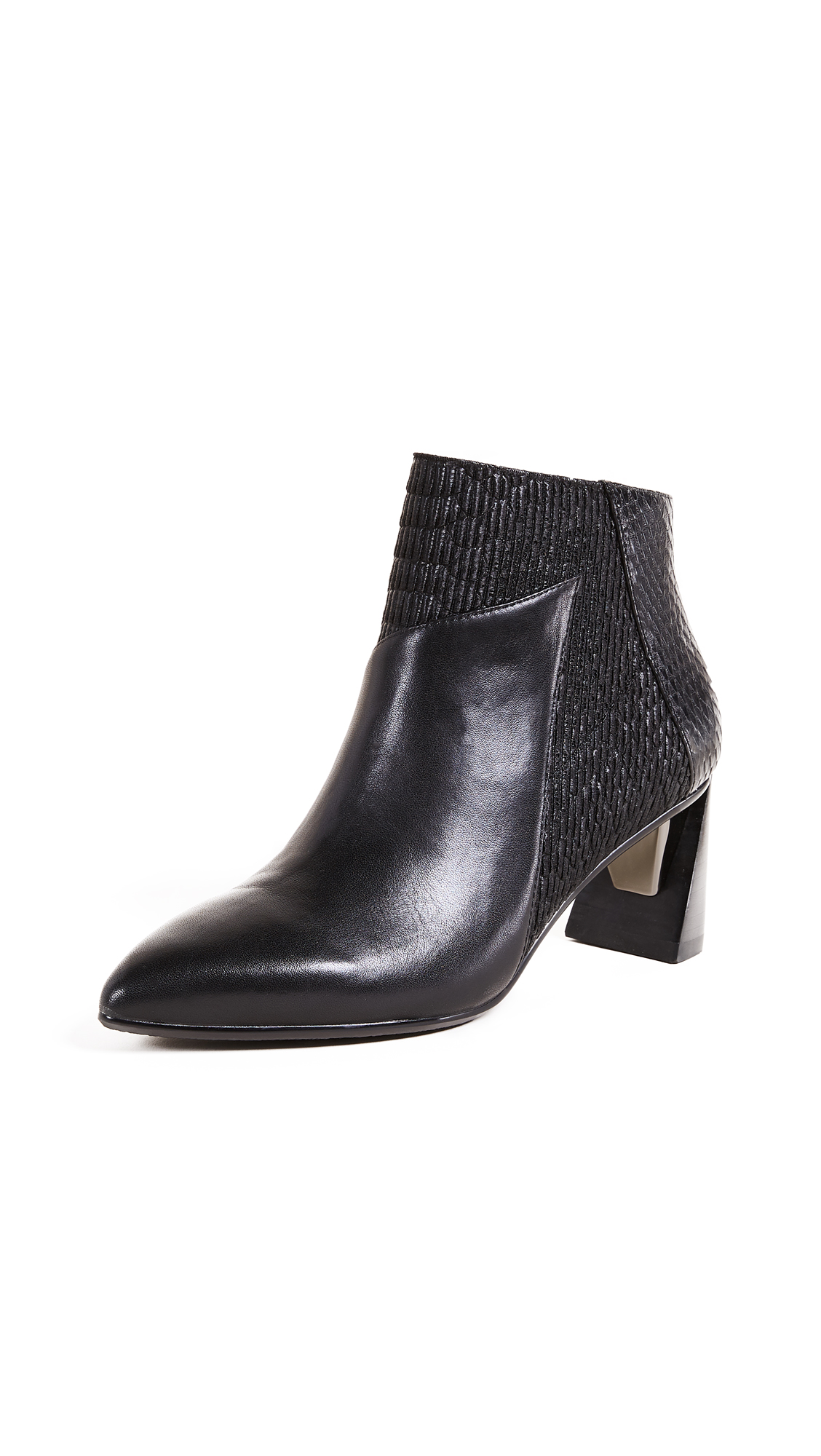 United Nude Zink Mid Ankle Booties - Black/Black