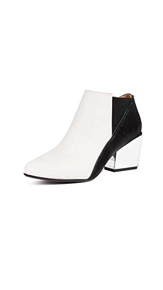 United Nude Tetra Jacky Mid Booties In White/Black