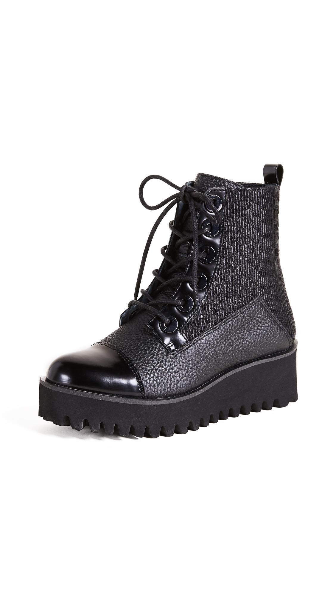 United Nude Combat Platform Boots - Black/Black