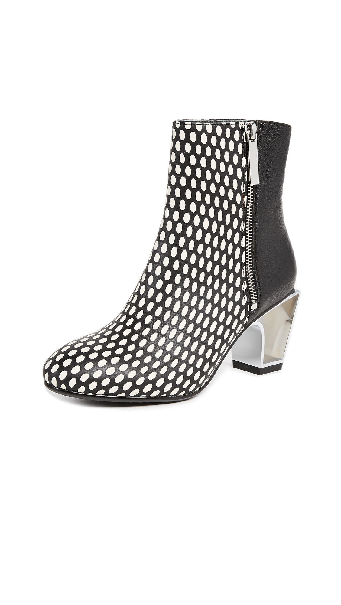 United Nude Icon Mid Booties - Black/White