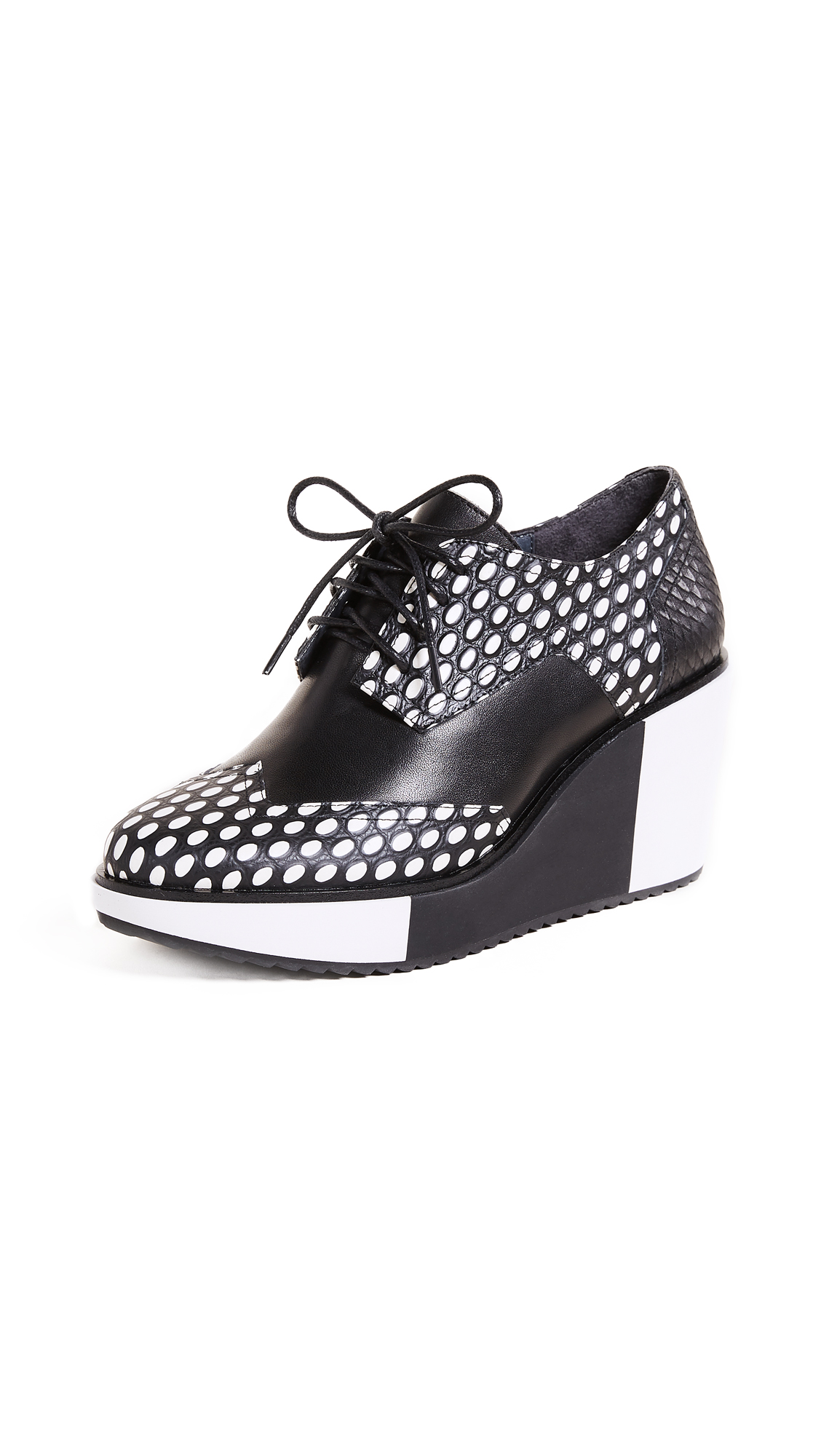United Nude Geo Wing Platform Oxfords - Black/White