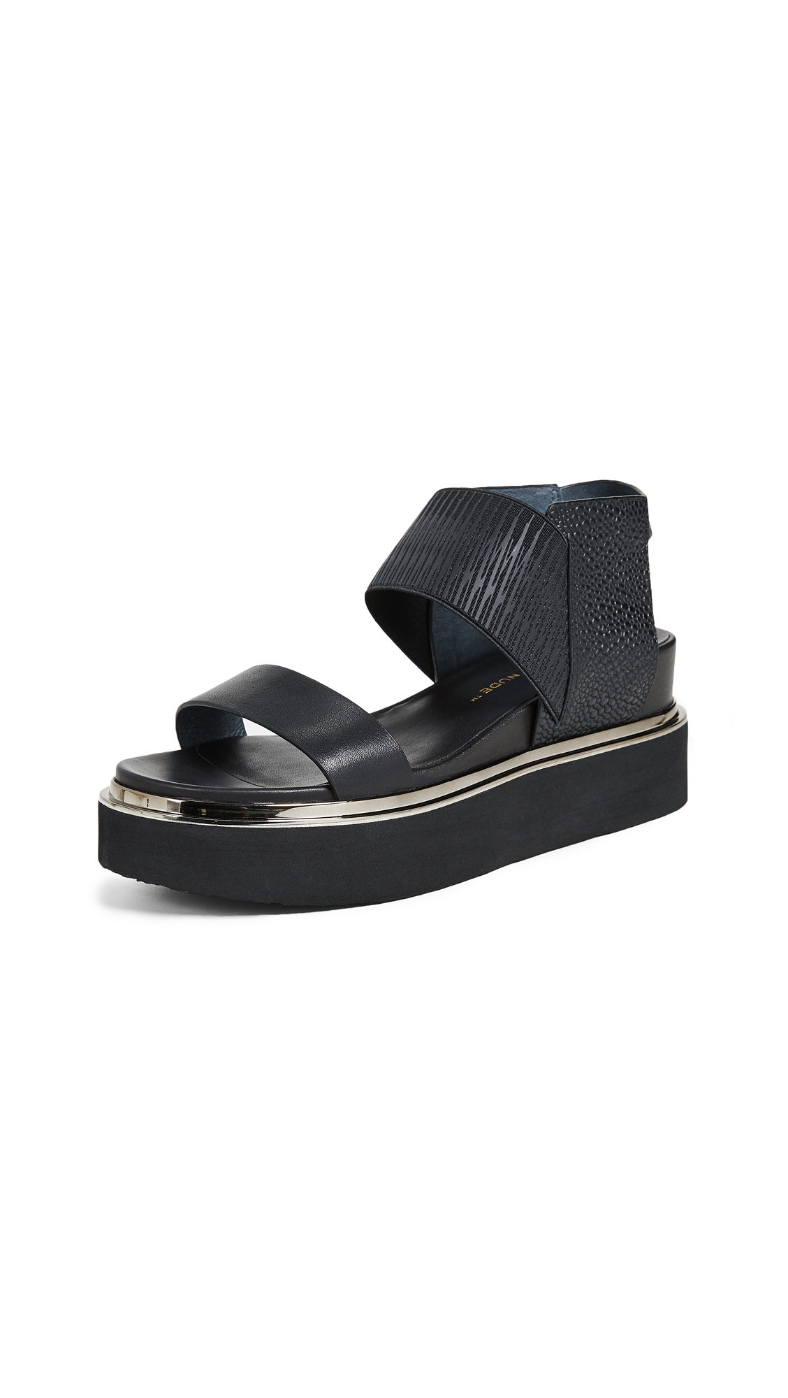 United Nude Rico Sandals In Black