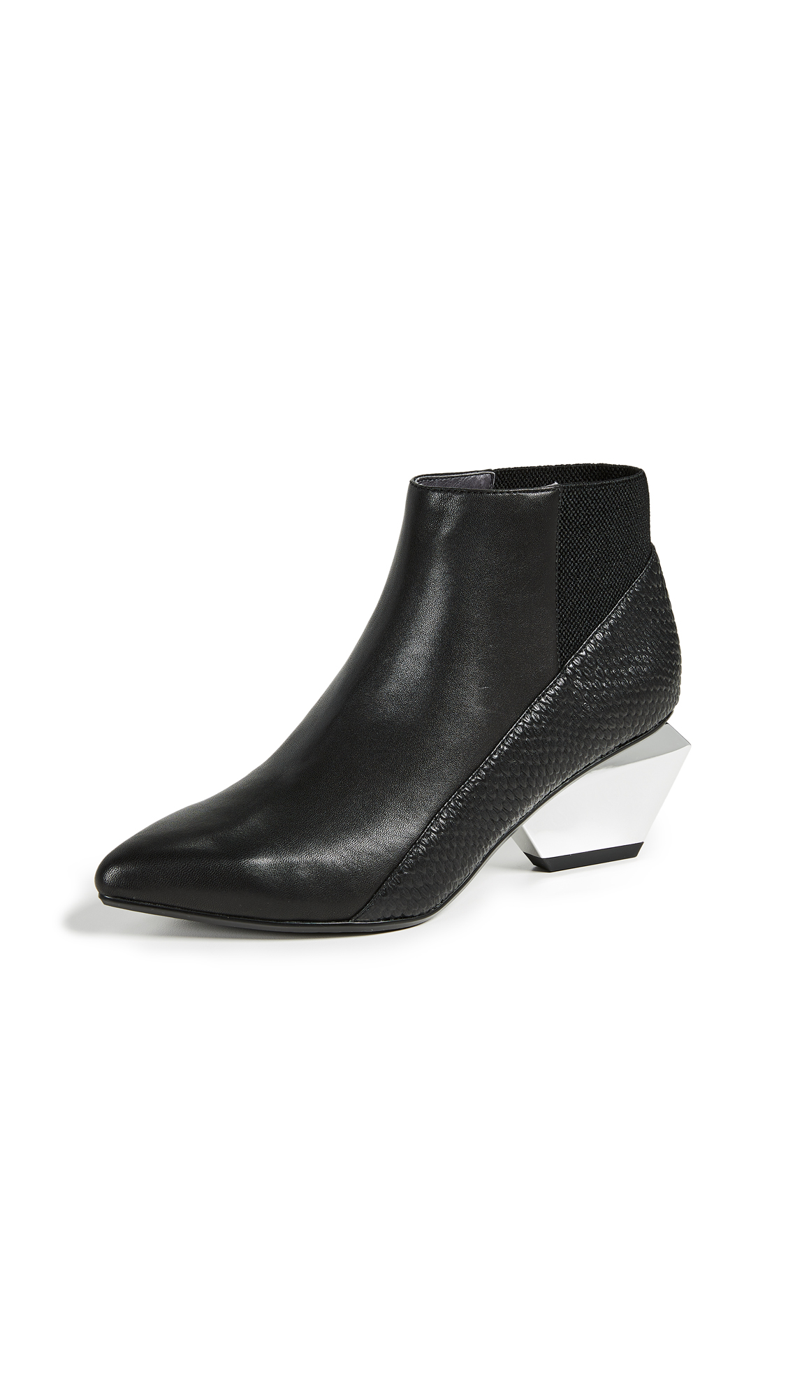 United Nude Jackie Metal Mid Heeled Boots - Black