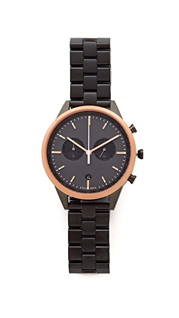 Uniform Wares C41 PVD Rose Gold Chronograph Watch