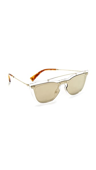 Valentino Glamgloss Sunglasses - Light Gold/Mirror Gold
