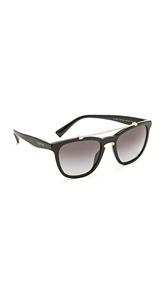 Valentino Rock Loop Sunglasses - Black Gold/Grey