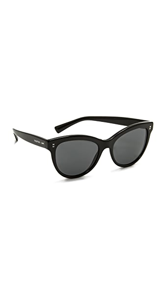 Valentino Rockstud Rivets Sunglasses - Black/Grey