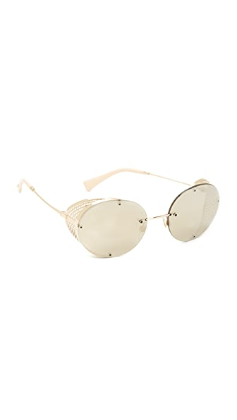 Valentino Glamtech Sunglasses - Shiny Light Gold/Mirror Gold