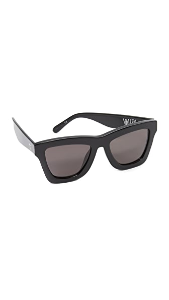 Valley Eyewear The DB II Petite Sunglasses In Gloss Black/Black