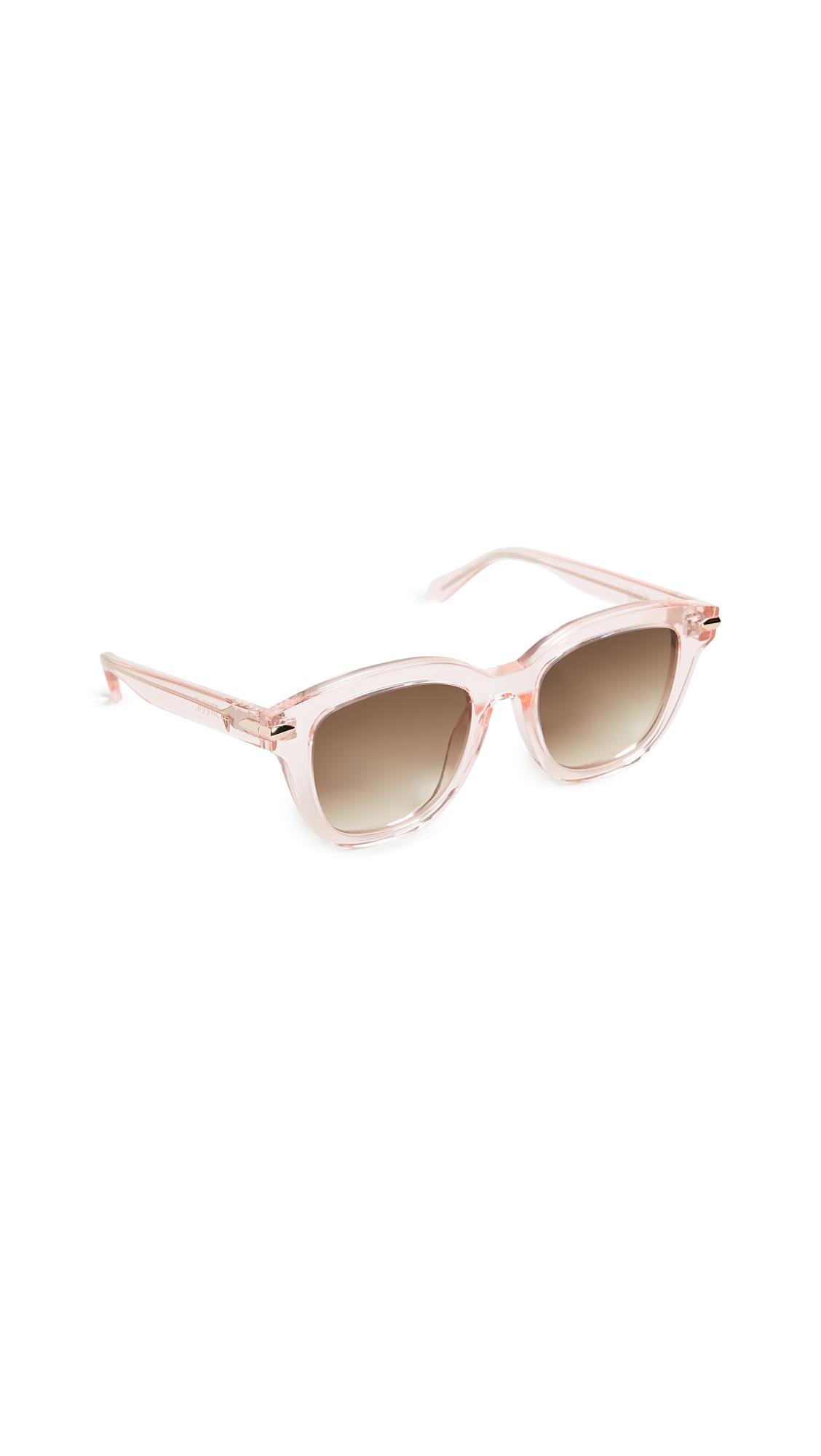 Valley Eyewear Brake Sunglasses - Crystal Pink Rose Gold/Brown