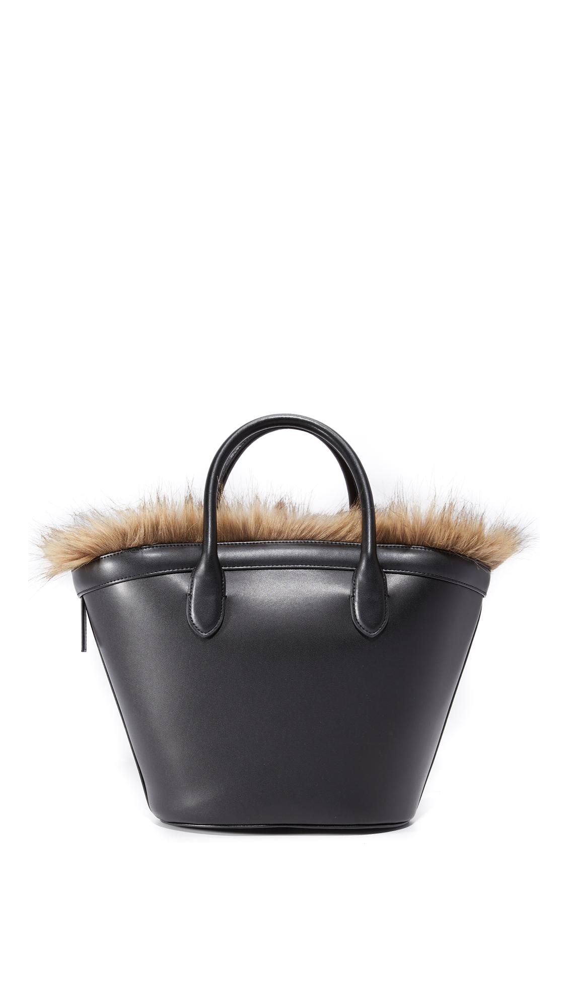 Vasic Collection Marche Mini Faux Fur Tote Shopbop Emerson Medium Brown New
