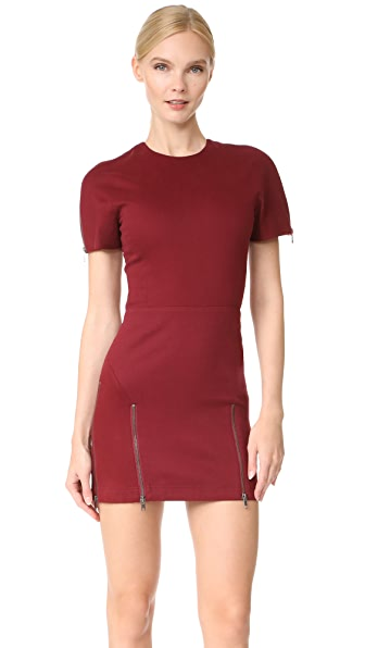 Vatanika High Zip Slit Mini Dress