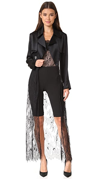 Vatanika Satin & Lace Duster