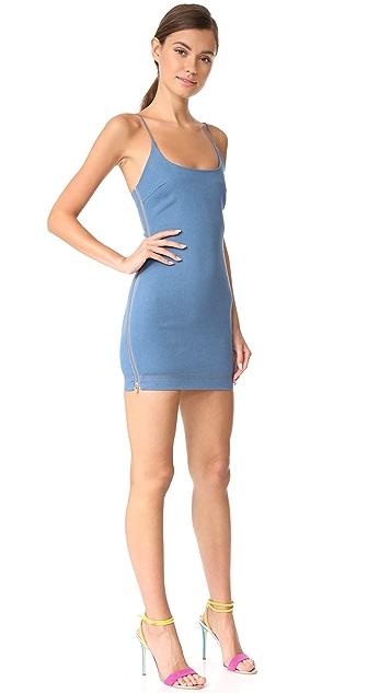 Vatanika High Zip Slit Mini Dress