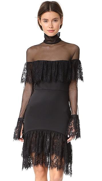 Vatanika Ruffled Turtleneck Dress