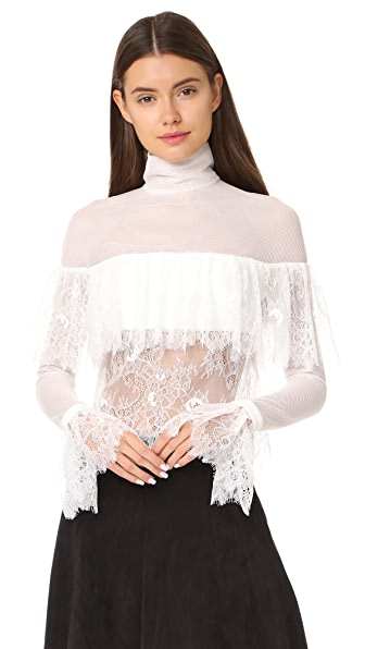 Vatanika White Lace Blouse at Shopbop