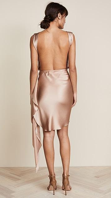 Vatanika Sleeveless Dress with Ruched Skirt