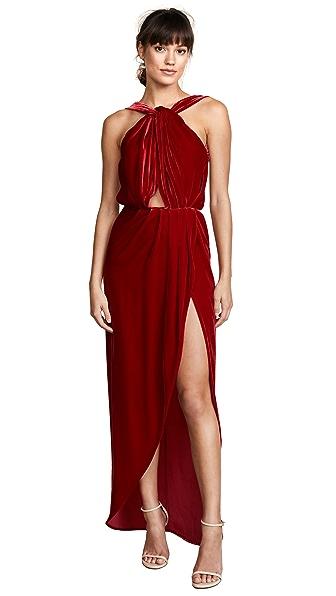 Vatanika Velvet Maxi Dress