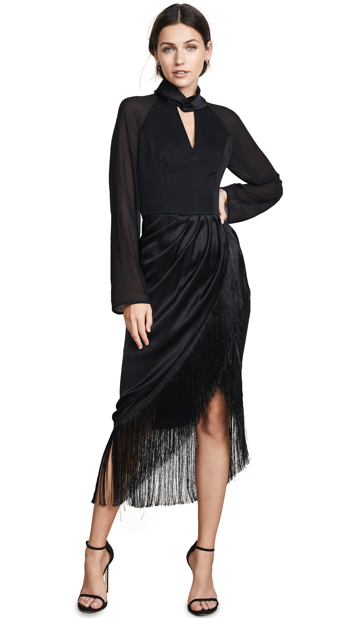 Vatanika Long Sleeve Dress - Black