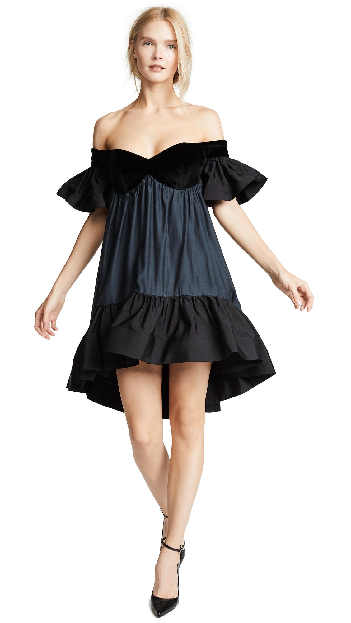 Vatanika Ruffled Velvet Dress