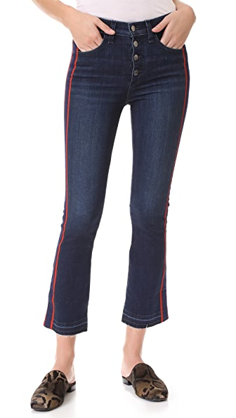 Veronica Beard Jean Carolyn Jeans with Tux Stripe - Midnight