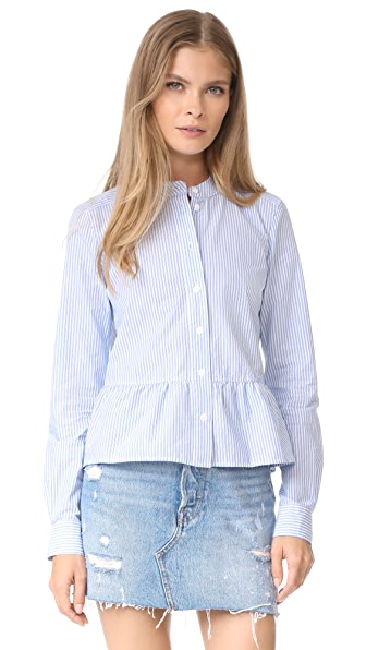 Veronica Beard Jean Charlotte Crew Neck Shirt