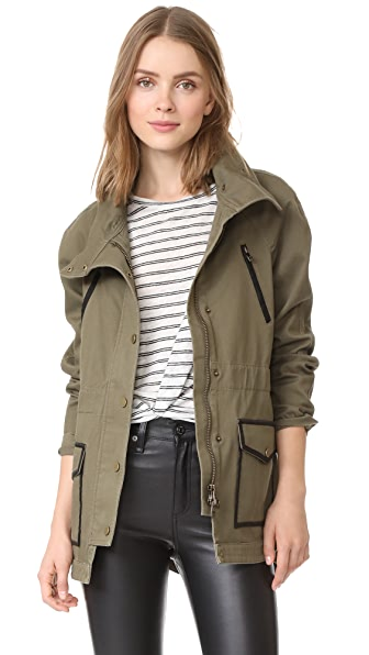 Veronica Beard Jean Army Jacket - Army Green