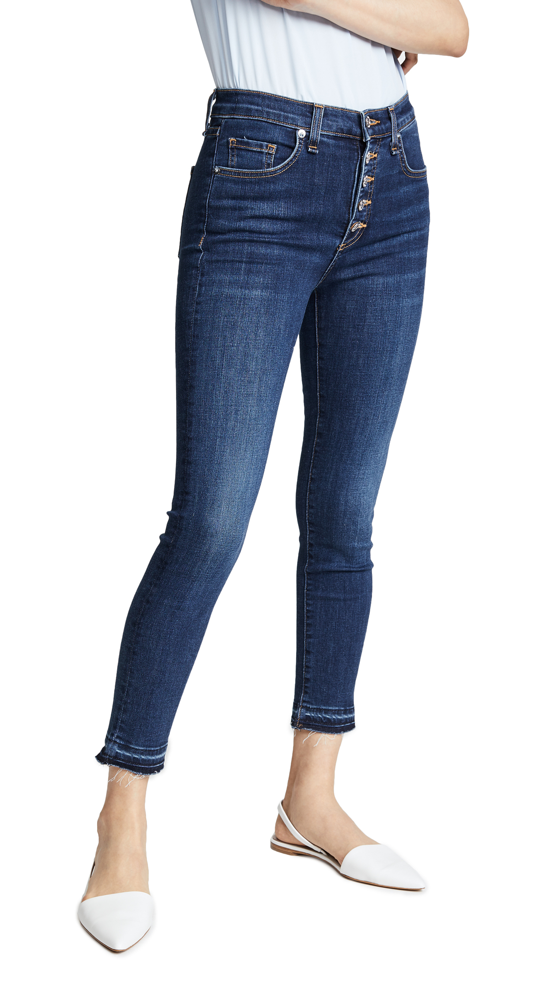 Veronica Beard Jean Debbie Jeans with Fraying
