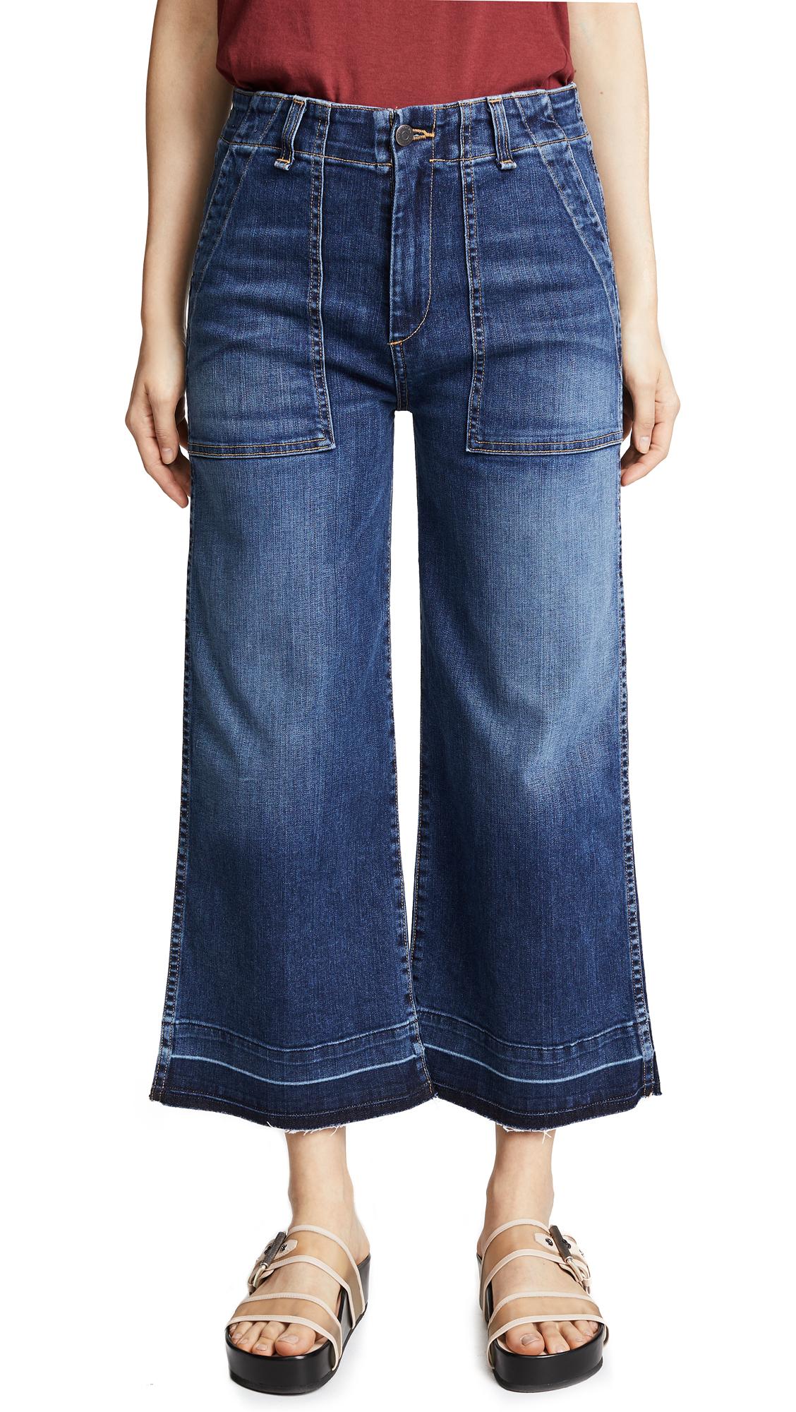 Veronica Beard Jean Lou Gaucho Jeans In River