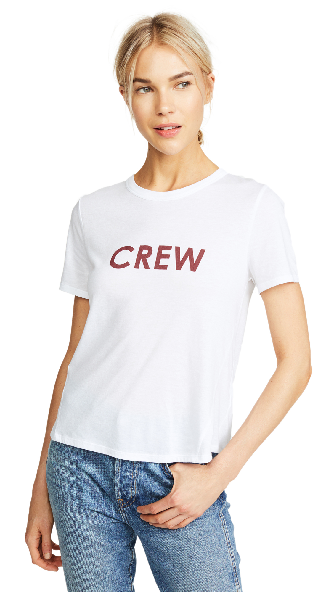 VERONICA BEARD JEAN Crew Lauren Tee in White