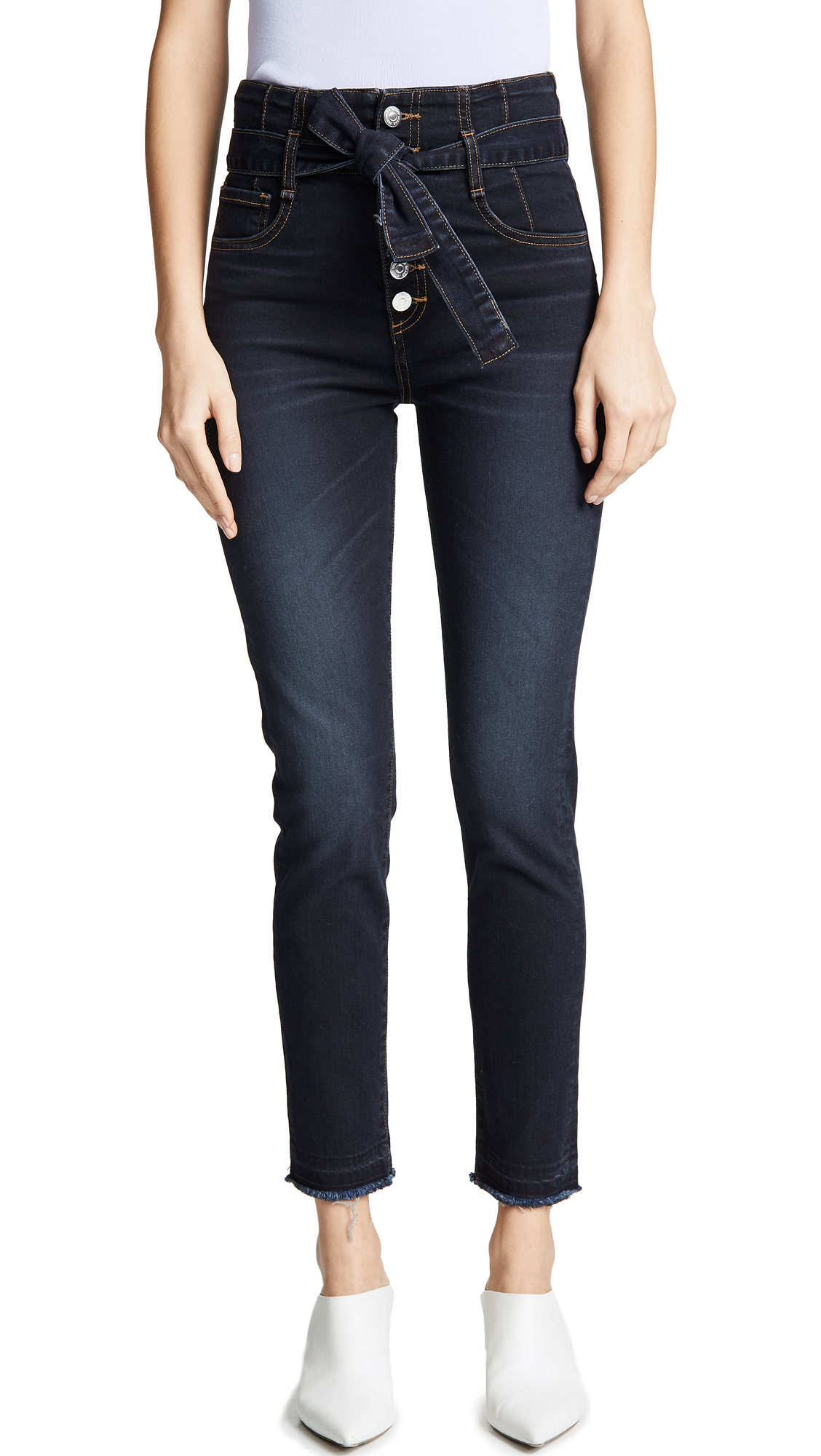 "VERONICA BEARD JEAN Keith 12 Corset Skinny Jeans"" in Dark Slate"