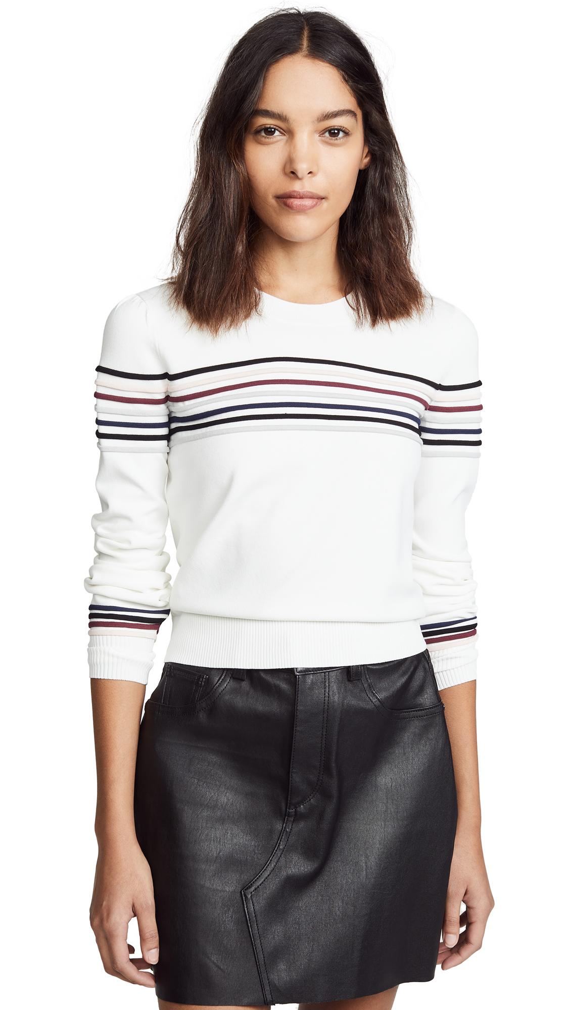 VERONICA BEARD JEAN Fenn Sweater in Ivory