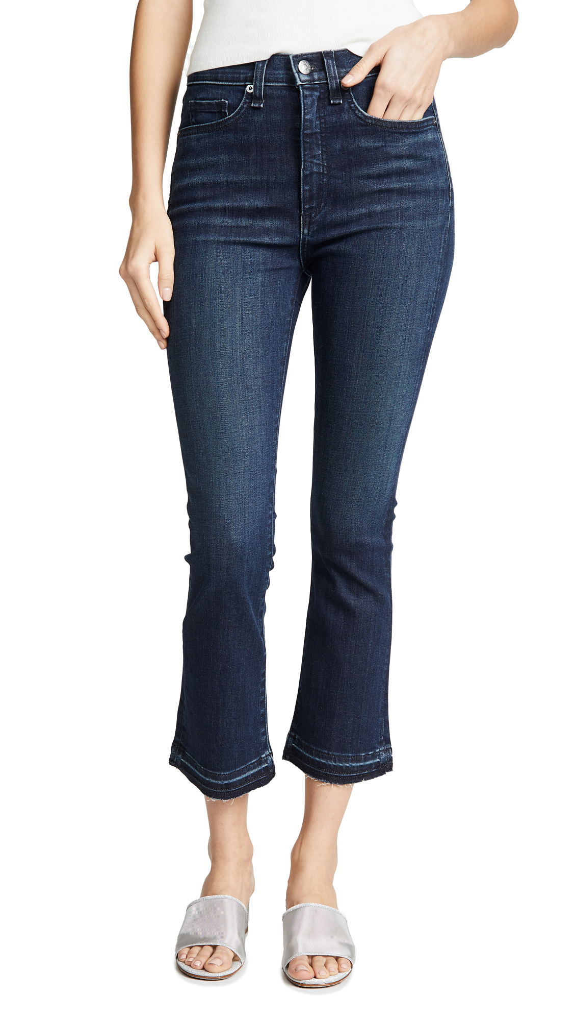 "VERONICA BEARD JEAN Carly 11 Kick Flare Jeans"" in Midnight"