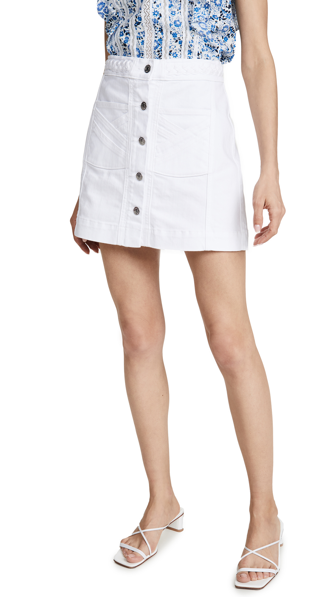 Buy Veronica Beard Jean online - photo of Veronica Beard Jean Aron Braided Miniskirt