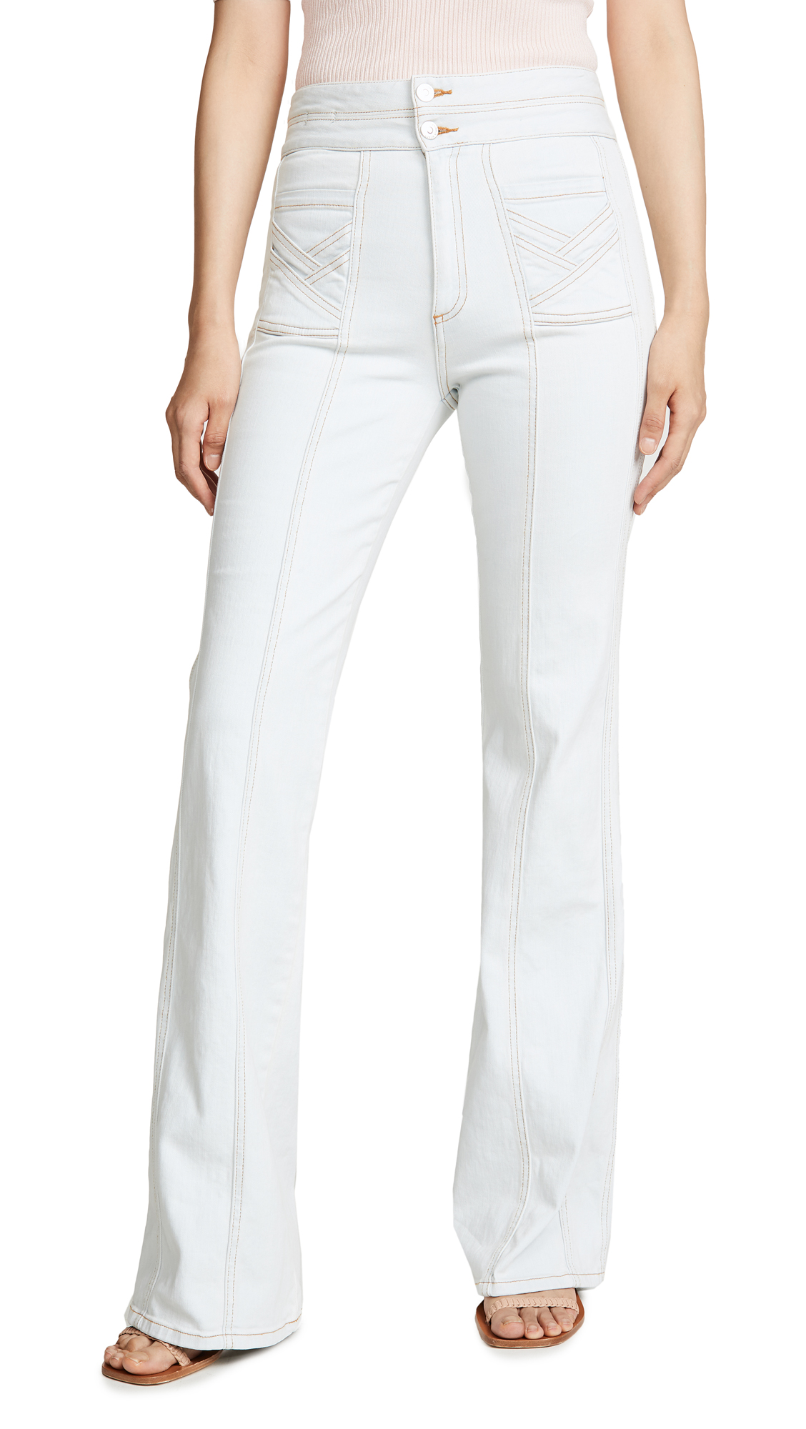 Buy Veronica Beard Jean online - photo of Veronica Beard Jean Farrah Wide Leg